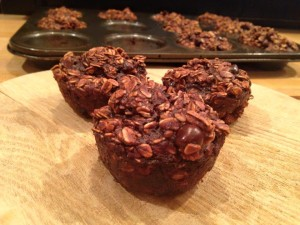 Triple Chocolate Oatmeal Muffins