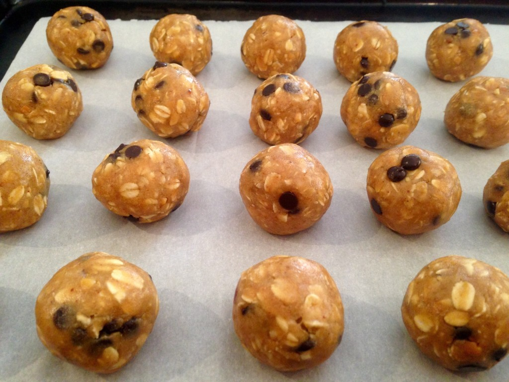 Protein Powder Peanut Butter Chocolate Chip Cookie Dough Balls
