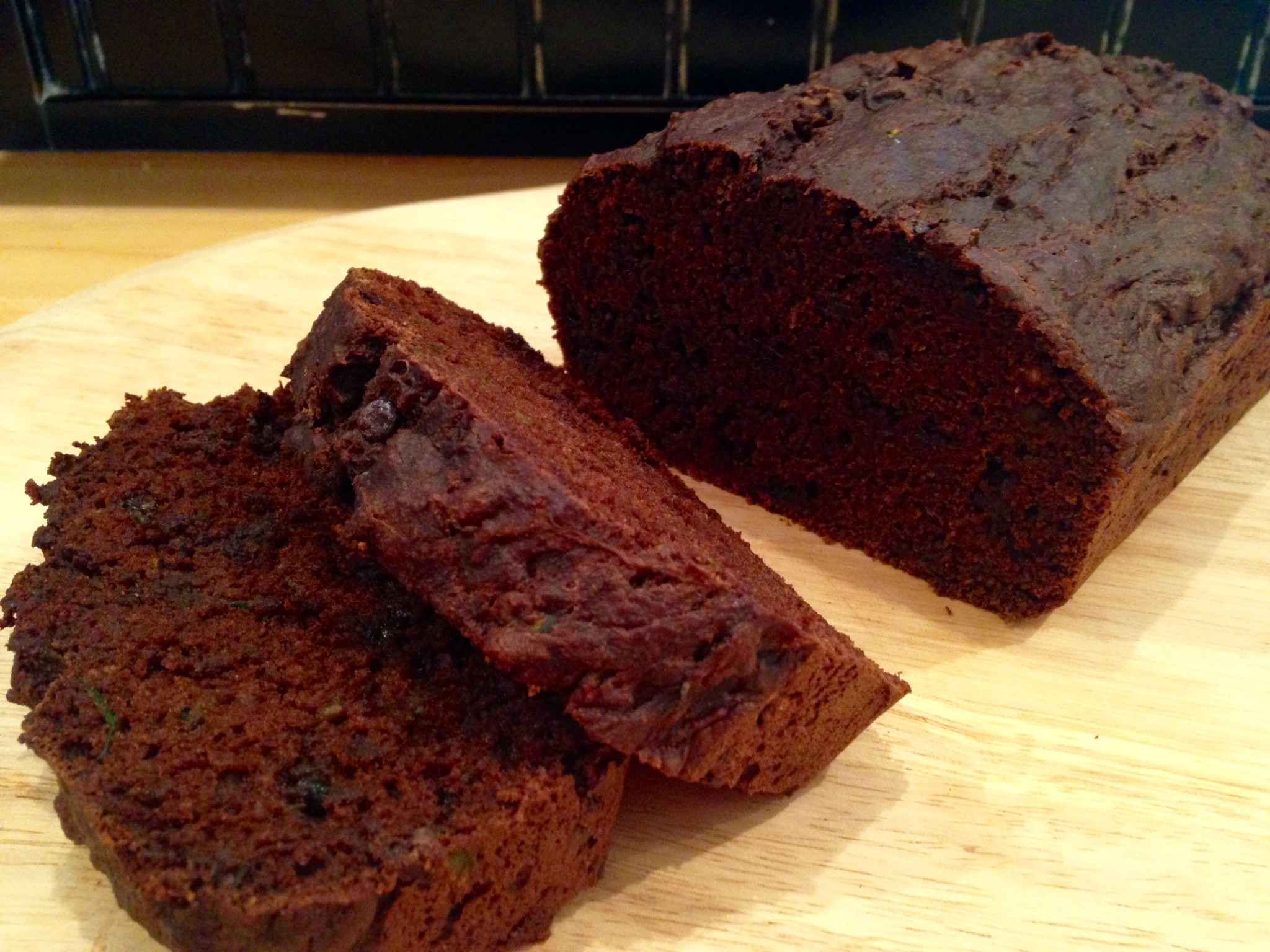 this double chocolate zucchini bread is so moist chocolatey its