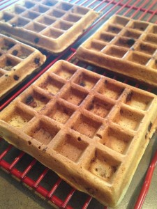 Simple Chocolate Chip Waffles 2