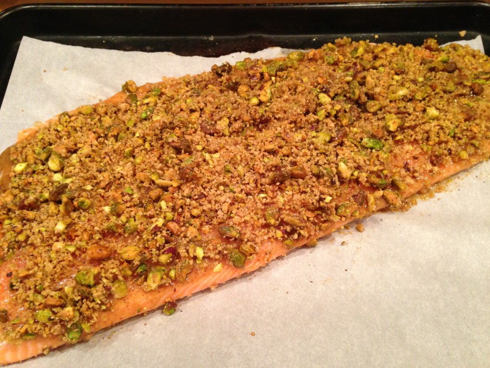Pepper simply made for Pistachio crusted fish