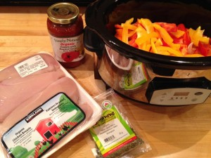 Simple Crock Pot Italian Chicken with Onions & Peppers 2