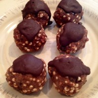 Peanut Butter Cup Protein Balls