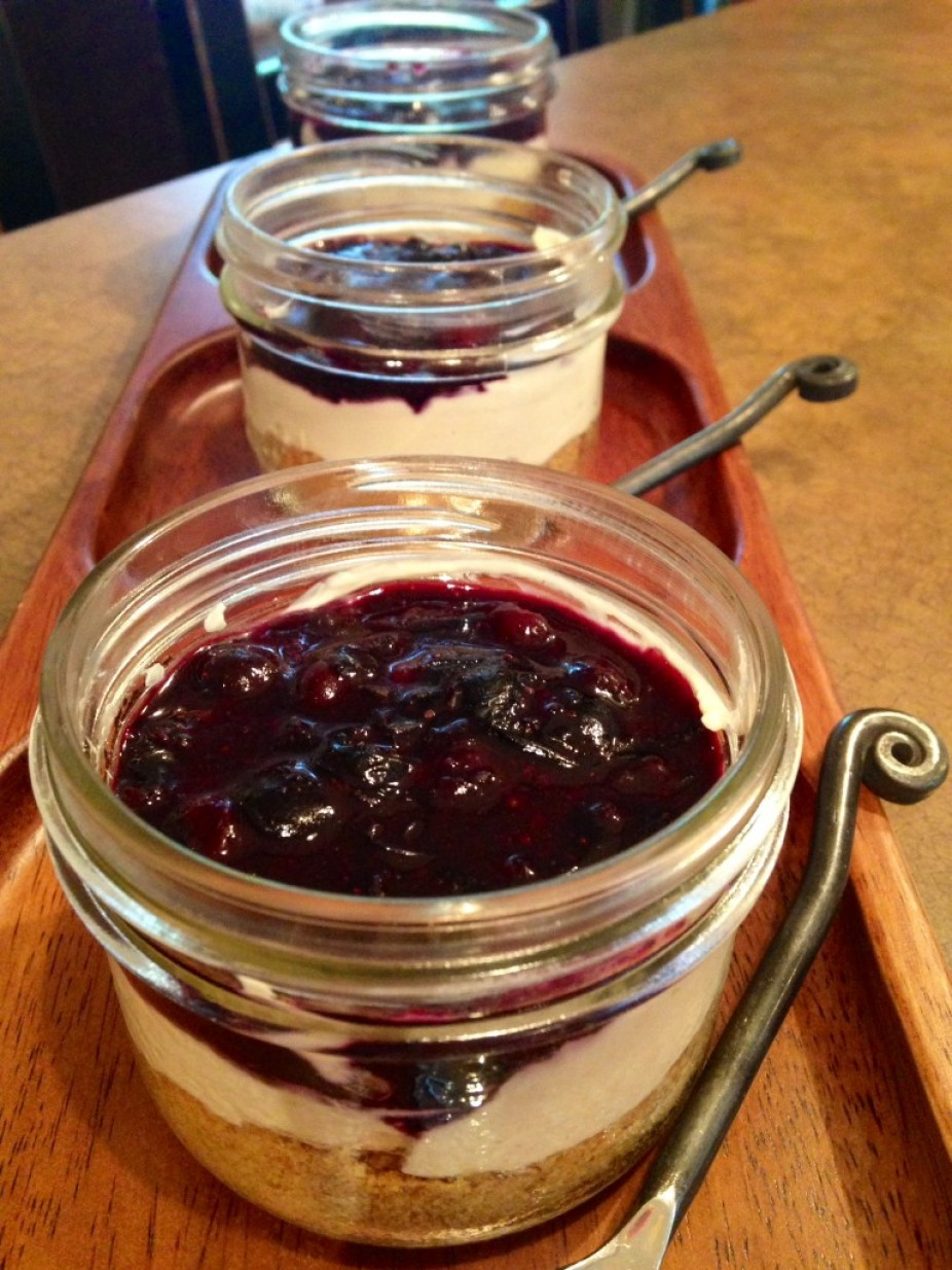 Blueberry Cheesecake In A Jar