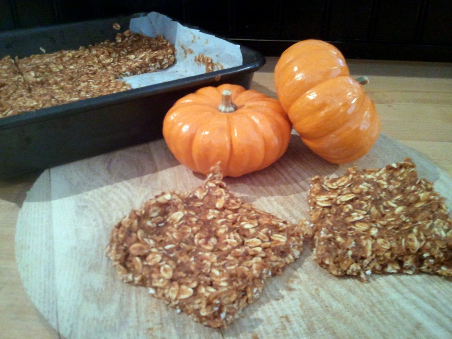 No Bake Pumpkin Protein Bars