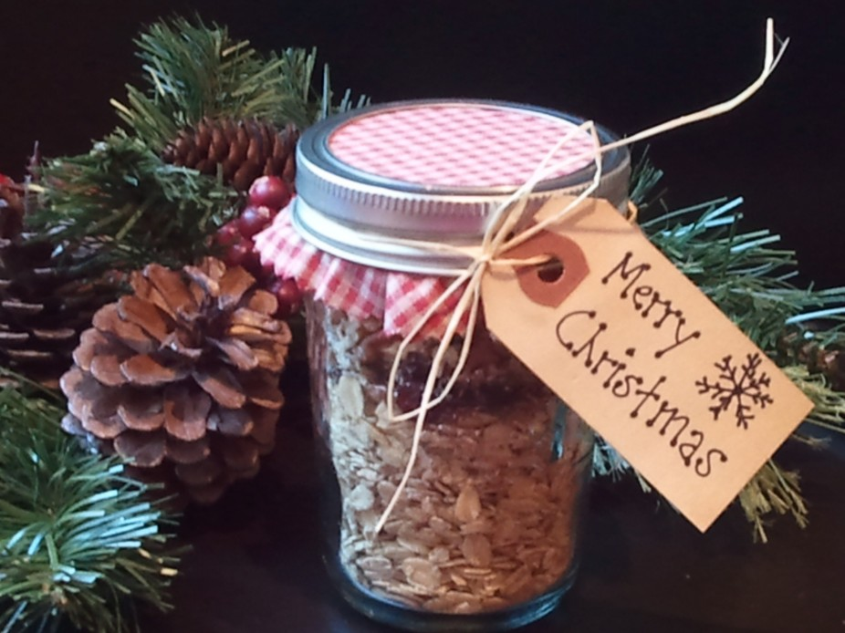 Cranberry & Orange ~ Holiday Oats In a Jar