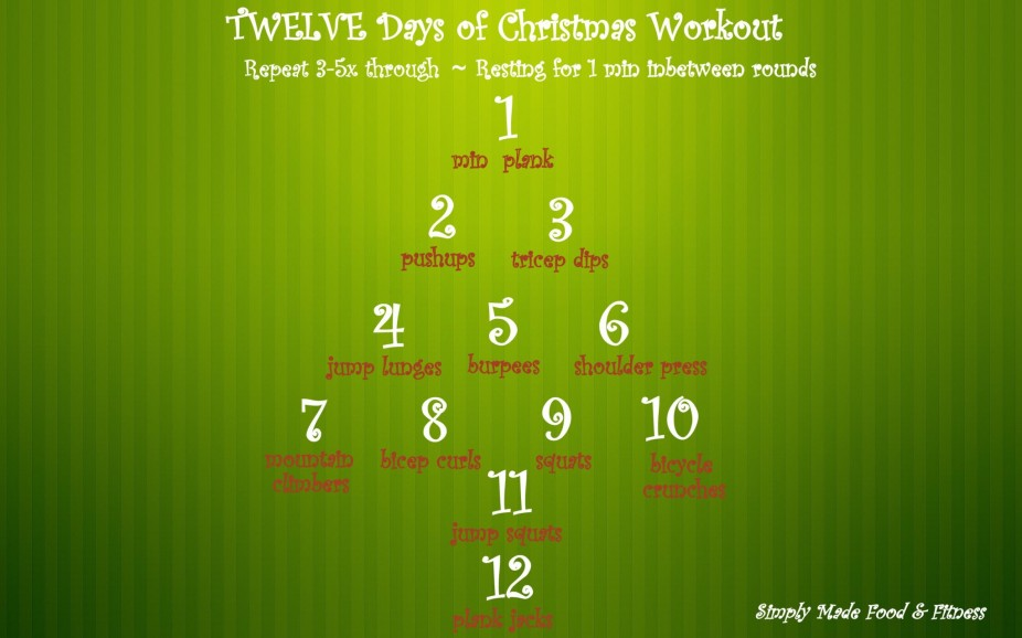 Twelve Days Of Christmas Workout