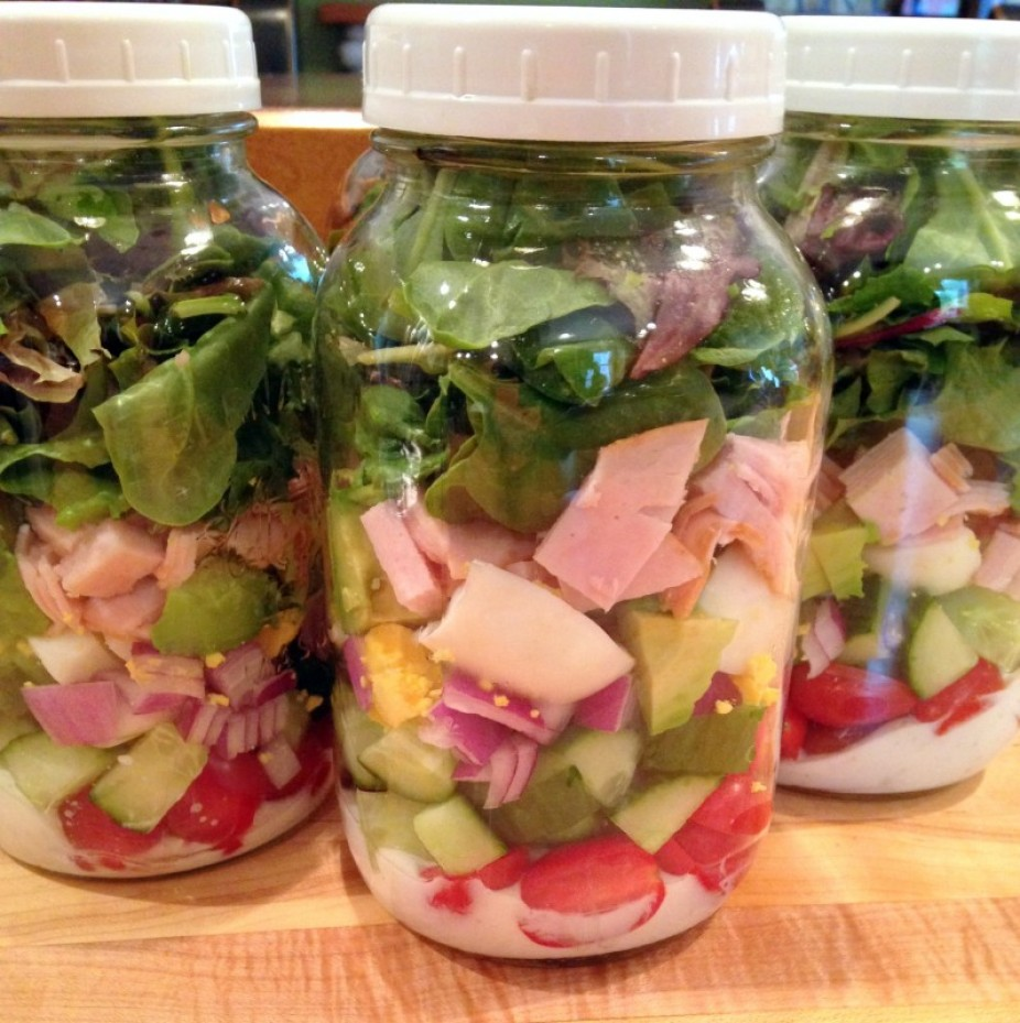 Simple Cobb Salad In A Jar
