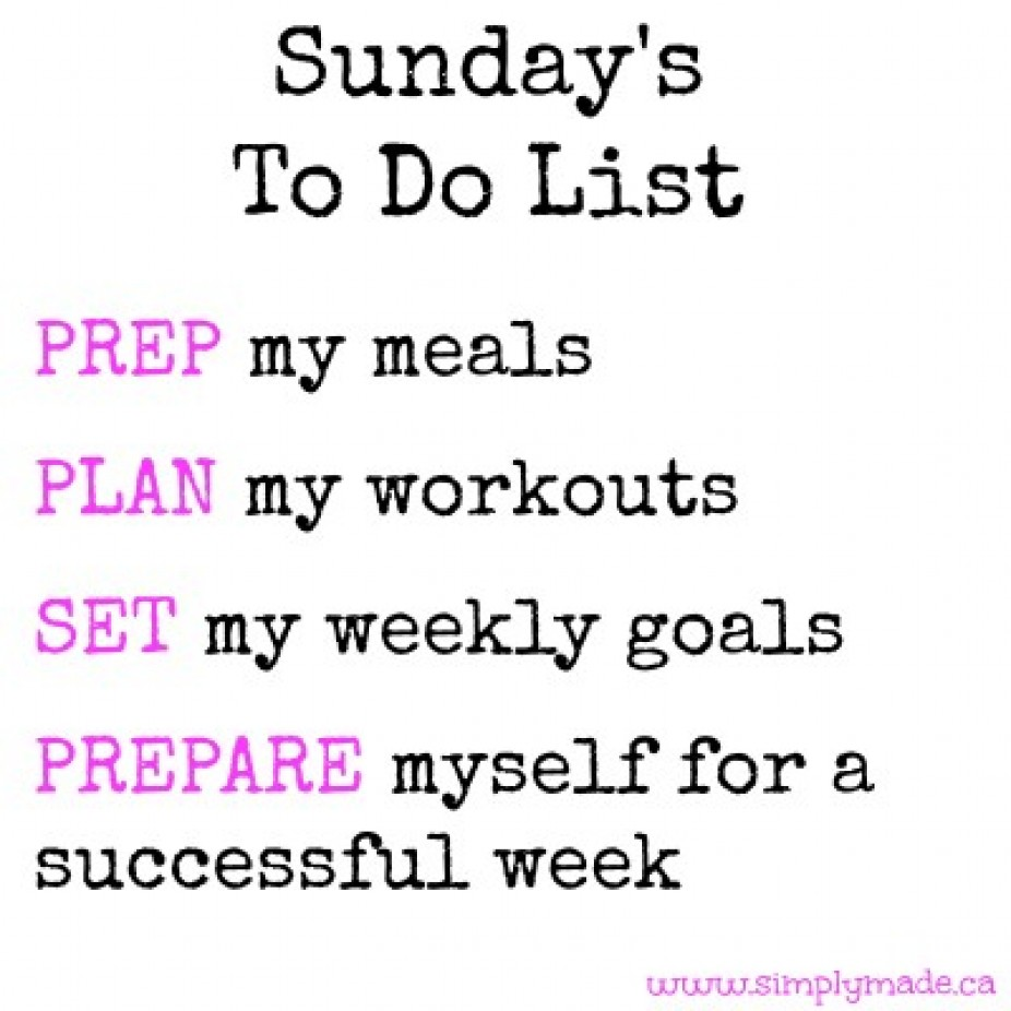 "Sunday's ""To Do"" List"