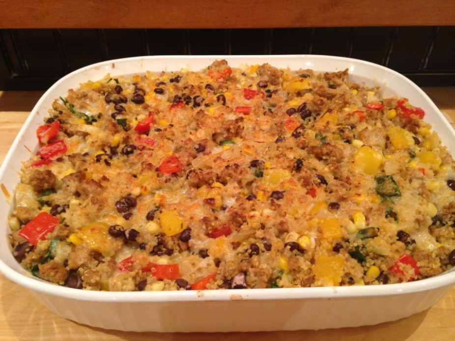 Turkey & Quinoa Taco Bake