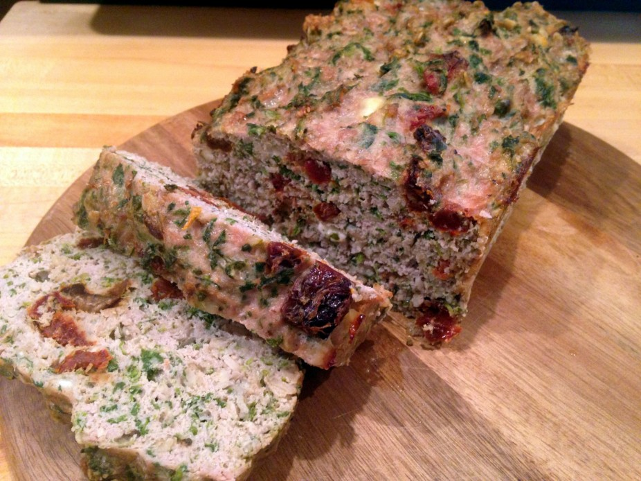 Sun Dried Tomato, Spinach & Feta Turkey Loaf