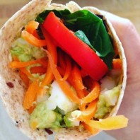 Simple Avocado & Egg Wrap