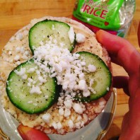 Open Faced Rice Cake Sandwiches