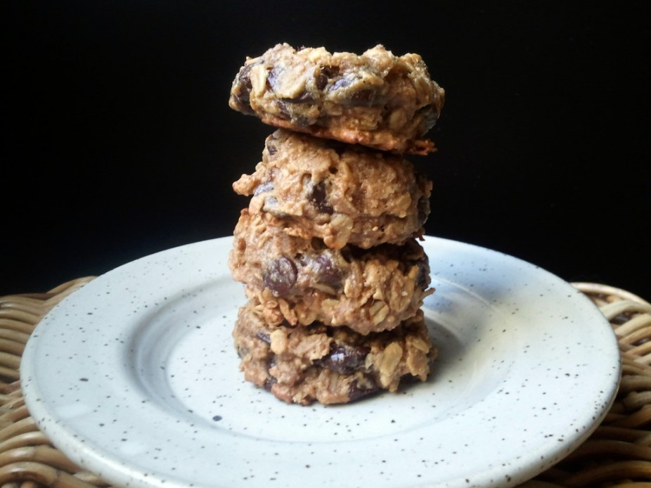 Peanut Butter & Banana Chocolate Chip Oat Cookies