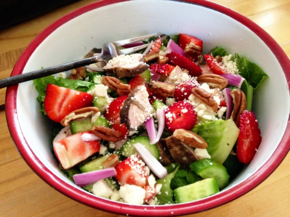 Strawberry & Feta Grilled Chicken Salad